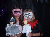 Winners of the puppet and mask competition