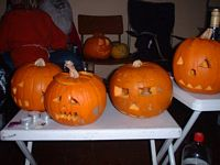 Children's pumpkin competition